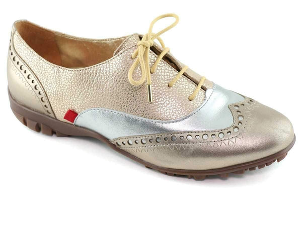 Shoes,Marc Joseph,Marc Joseph NYC Chrome Lace Up Golf Shoe-Metallic,the-ladies-pro-shop-2,ladiesproshop