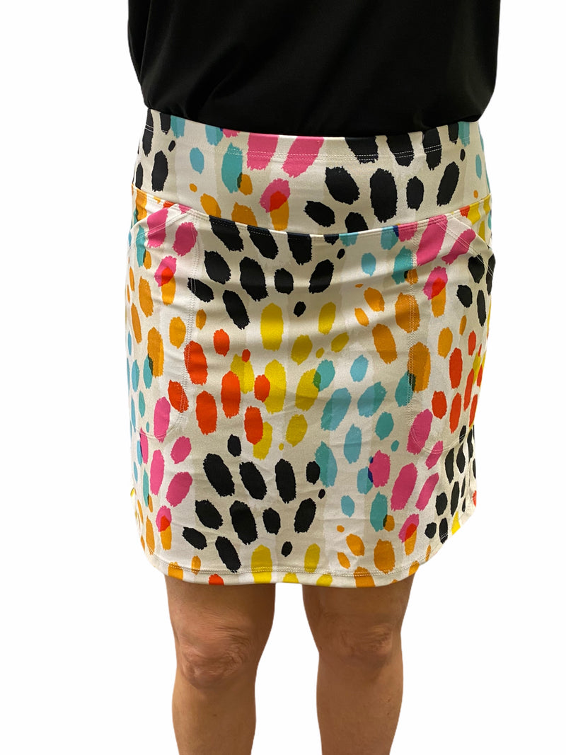 "Bskinz Women's Knit Printed Stretch 18"" Pull-On Skort-Tahiti"