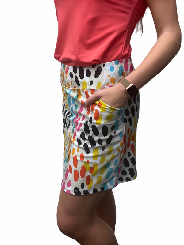 "Bskinz Women's Knit Printed Stretch 20"" Pull-On Skort-Tahiti"