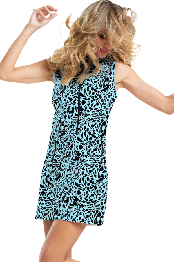 Jamie Sadock Shockwave Sleeveless Feline Print Dress