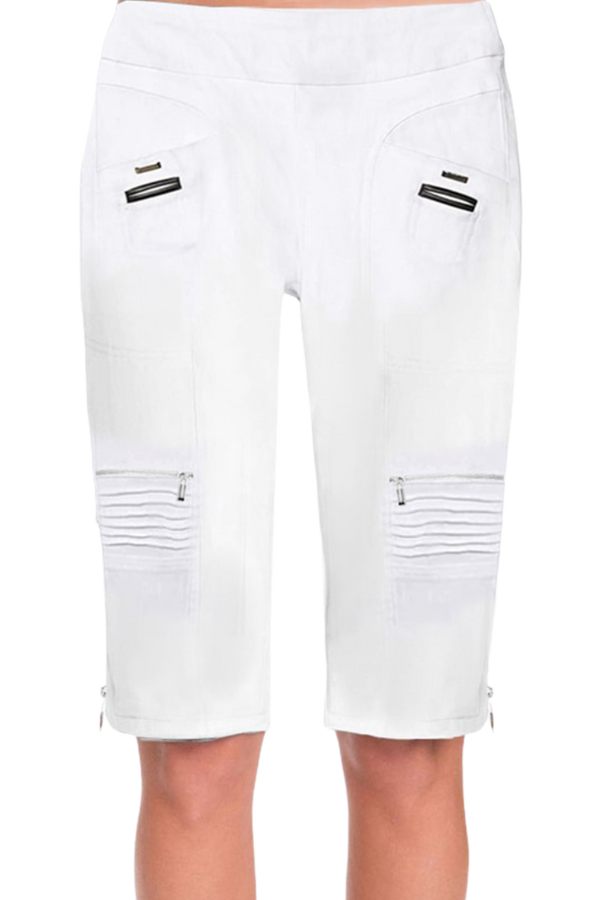 "Jamie Sadock Basic Women's Skinnylicious 24.5"" Pull-on Knee Short- White"