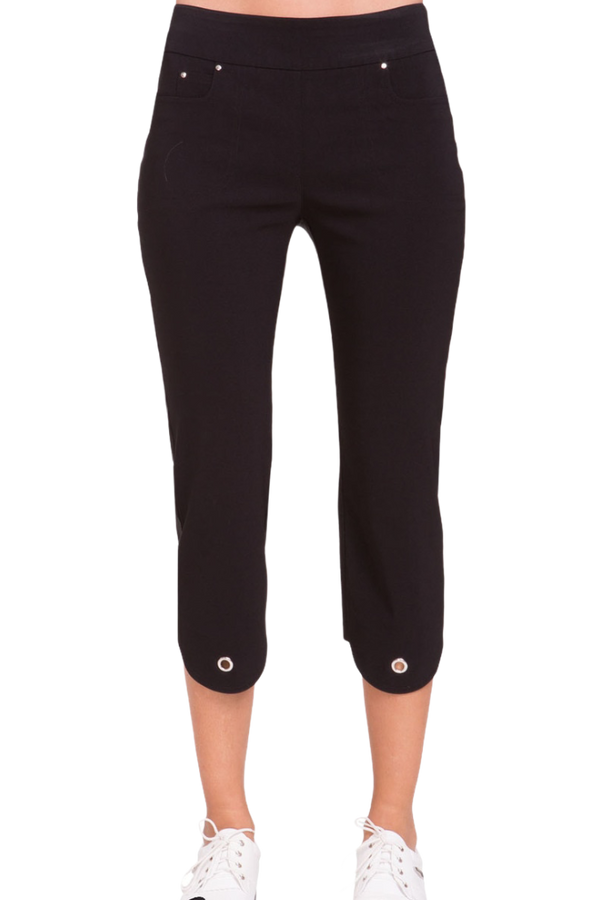 Jamie Sadock Women's Basic Skinnylicious NEW Mid Capri Pants-Black, White, Bique***