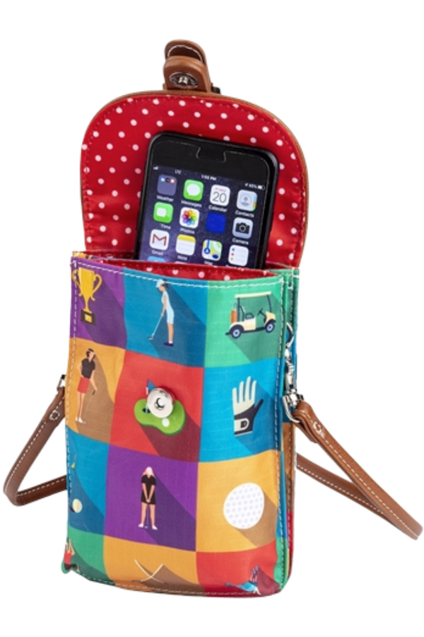 Sydney Love Championship Round Golf Cell Phone Holder
