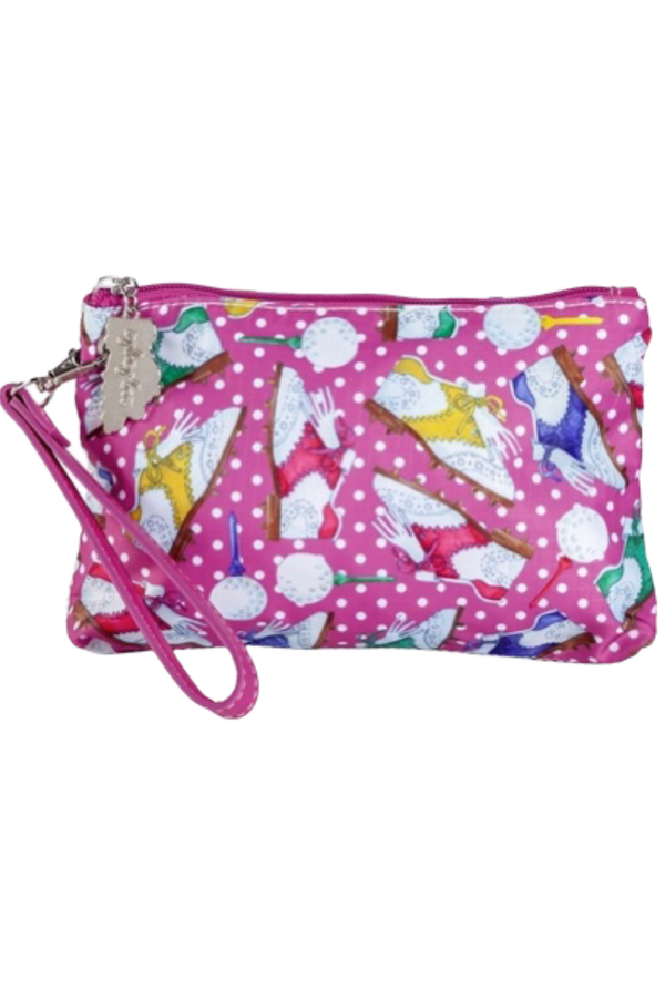 Sydney Love Nu Shooz Golf Cosmetic Wristlet with Tee Holder