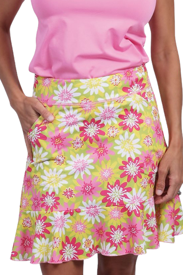 Ana Clare Madison Printed Flounce Skort- Enchanted