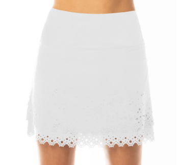 Lucky in Love Rising Star Long Skort-Black, White, Sand, and Navy