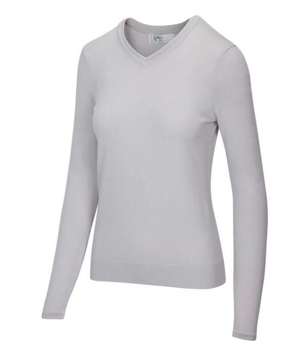 Greg Norman Lurex Tipped V-Neck Sweater-5 Colors