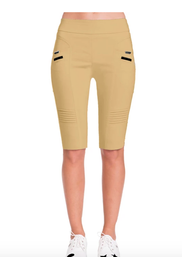 "Jamie Sadock Women's Skinnylicious 24.5"" Pull-on Knee Capri's-NEW Palomino- VENUS COLLECTION***"