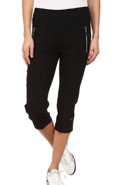 Jamie Sadock Basic Skinnylicious Women's Pull On Stretch Pedal Pushers Black