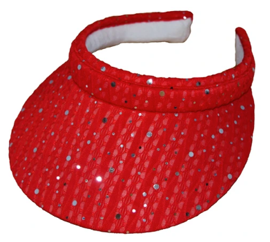 Cushees Sparkly Clip On Mid Sized Brimmed Visor