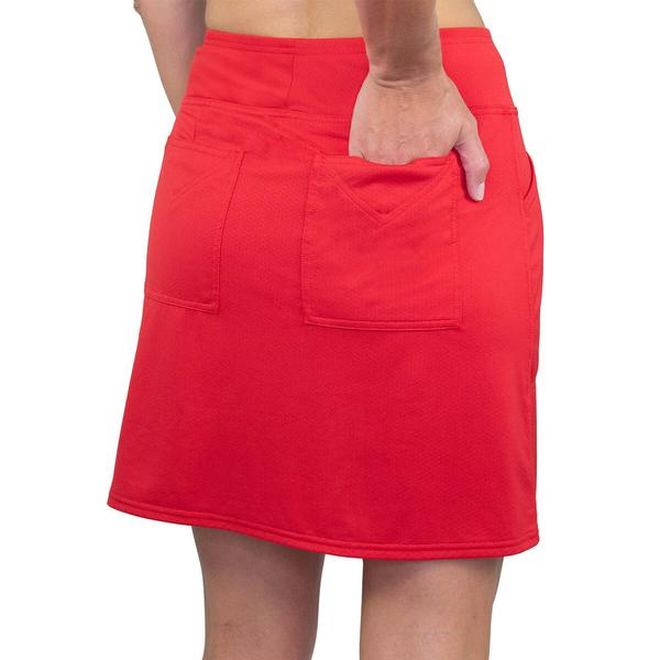 Jofit Women's Basic Mina Knit Pull On Skort-Red
