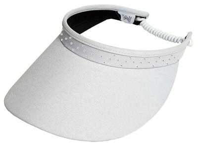 "Hats,Glove It,Glove It ""Bling"" Solid Collection Large 4"" Brim Coil Back Visor,the-ladies-pro-shop-2,ladiesproshop"