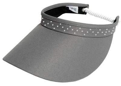 "Hats,Glove It,Glove It ""Bling"" Solid Collection Large 4"" Brim Coil Back Visor,the-ladies-pro-shop-2,ladiesproshop,ladiesgolf,golfclothes,ladiesgolfclothes,cutegolfclothes,womensgolfclothes,ladiesgolfclothing,womensgolfclothing"