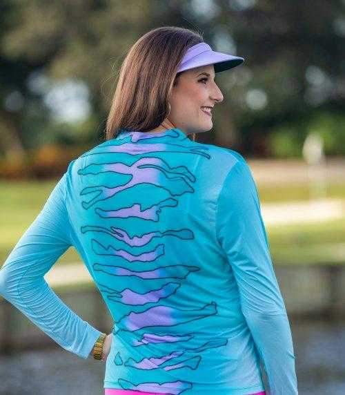 Shirts,Jamie Sadock,Jamie Sadock Sunsense Women's Zebra Print Button V-Neck Solar Sun Shirt,the-ladies-pro-shop-2,ladiesproshop,ladiesgolf,golfclothes,ladiesgolfclothes,cutegolfclothes,womensgolfclothes,ladiesgolfclothing,womensgolfclothing