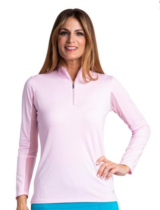 Bette & Court Ladies Long Sleeved Mock Sun Shirt-Assorted Colors