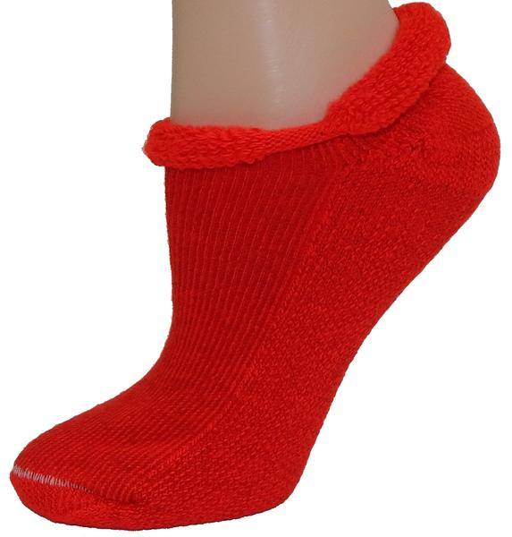 Ladies Roll Top Thick Socks-Assorted Colors