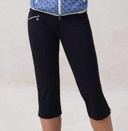 "Daily Sports Basic Women's Solid Miracle Stretch 29"" Golf Capri Pants"