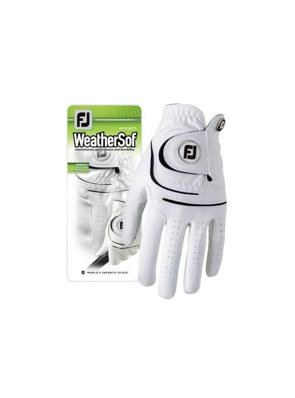 Golf Gloves - FootJoy - FJ Gloves-Weather-Soft - White - the-ladies-pro-shop-2