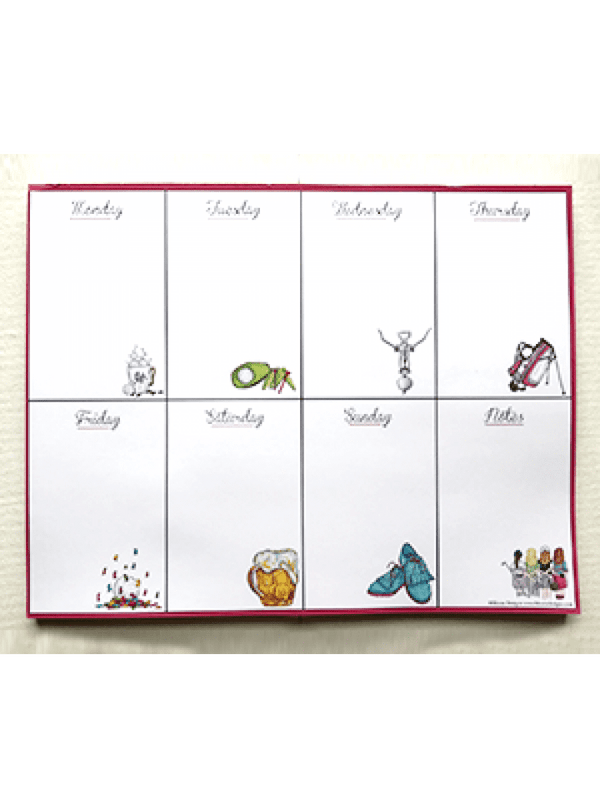 Notecards,Bloom Designs,Bloom Designs Golf Weekly Pad,the-ladies-pro-shop-2,ladiesproshop