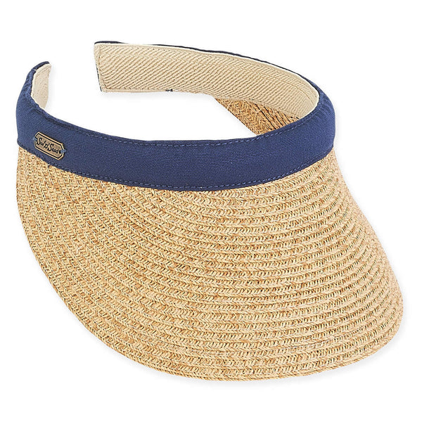 "the-ladies-pro-shop-2,Sun N Sand Braided 3.5"" Brim Clip On Visor-4 Colors,Sun N Sand,Hats"