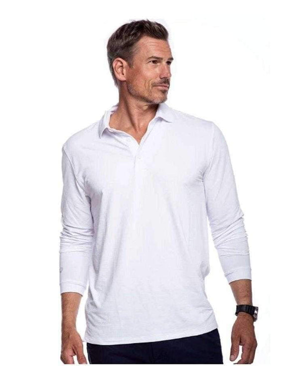 IBkul Men's Long Sleeve Polo - 95199 (Modern Fit)- 7 Colors