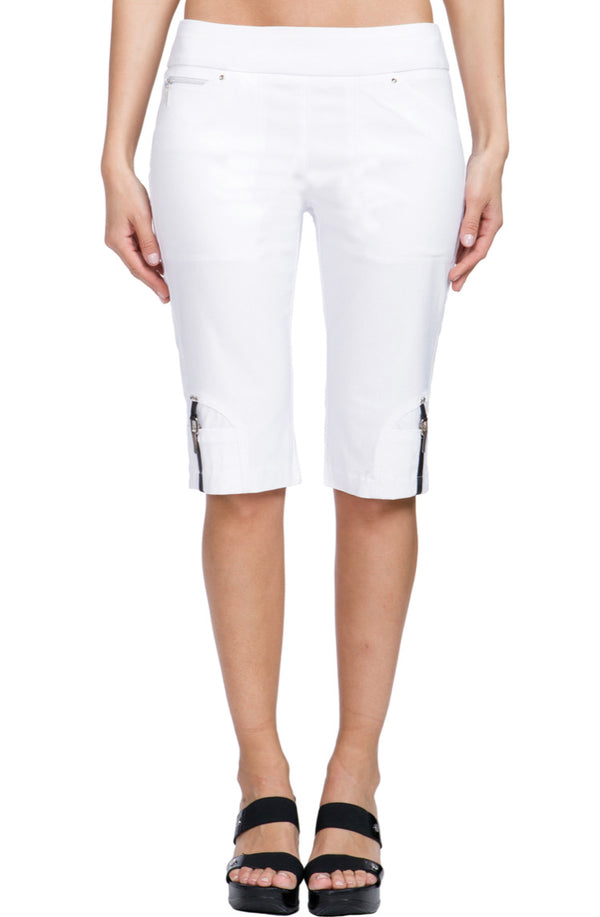 "the-ladies-pro-shop-2,*SHIPPING 6/10* Jamie Sadock White Women's Skinnylicious 24"" Pull-on Knee Capri's,Jamie Sadock,Shorts"