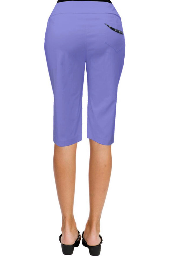 "the-ladies-pro-shop-2,*SHIPPING 6/10* Jamie Sadock Slate Women's Skinnylicious 24"" Pull-on Knee Capri's - (Purple),Jamie Sadock,Shorts"