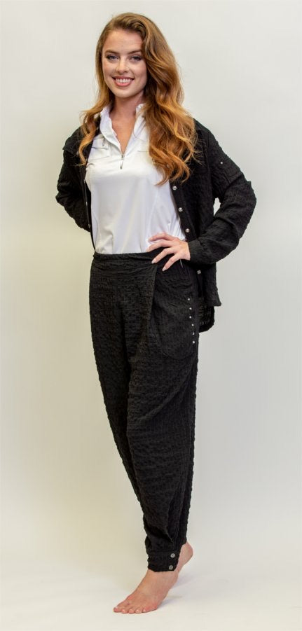 Jamie Sadock Sunsense Puckered Long Pant-Black