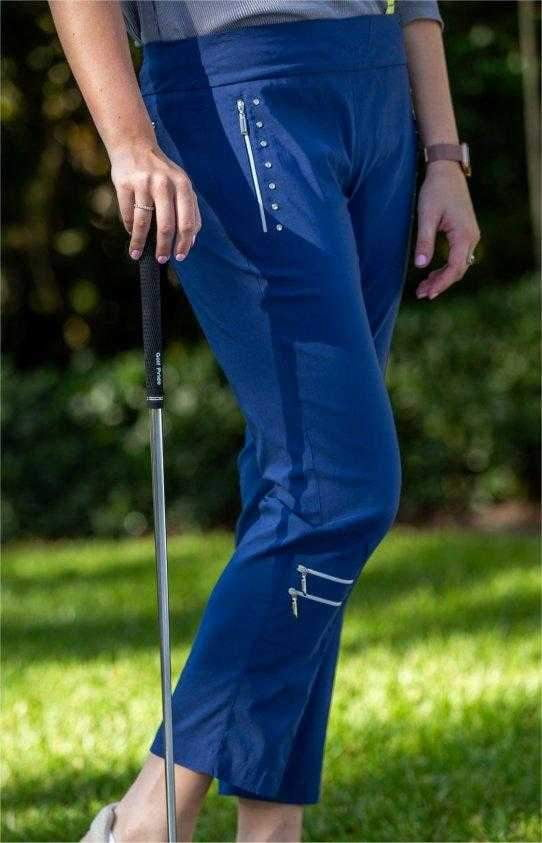 Pants,Jamie Sadock,Jamie Sadock Moonlit Pull On Golf Ankle Pants - Moonlit (Navy),the-ladies-pro-shop-2,ladiesproshop,ladiesgolf,golfclothes,ladiesgolfclothes,cutegolfclothes,womensgolfclothes,ladiesgolfclothing,womensgolfclothing