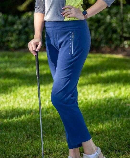 Jamie Sadock Moonlit Skinnylicious Golf Ankle Pants - Moonlit (Navy)