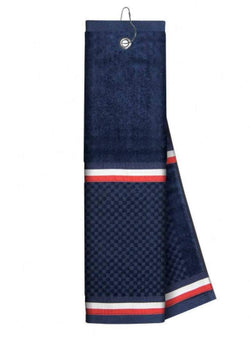 Golf Towels - Just4Golf - Just4Golf  Ribbon Trim Insert Golf Towel-Navy/White/Red - the-ladies-pro-shop-2