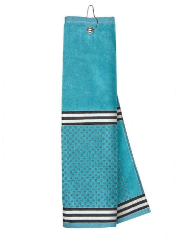 Just4Golf Ribbon Trim Insert Golf Towel-Turquoise | The Ladies Pro Shop