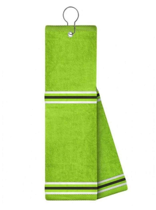 Just4Golf Lime Towel with Ribbon Insert Golf Towel-Lime | The Ladies Pro Shop