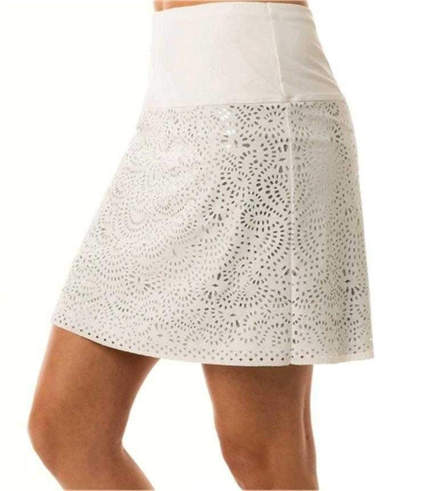 Skort,Lucky in Love,Lucky in Love Laser Shine Skort - White and Silver,the-ladies-pro-shop-2,ladiesproshop,ladiesgolf,golfclothes,ladiesgolfclothes,cutegolfclothes,womensgolfclothes,ladiesgolfclothing,womensgolfclothing