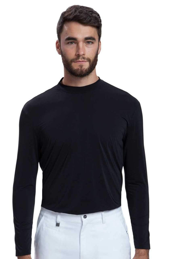 Shirts,Jamie Sadock,Jamie Sadock Sunsense Men's Long Sleeve UV-Sun Protection Mock Neck Sun Shirt-Black or White,the-ladies-pro-shop-2,ladiesproshop,ladiesgolf,golfclothes,ladiesgolfclothes,cutegolfclothes,womensgolfclothes,ladiesgolfclothing,womensgolfclothing