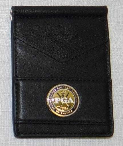 Ahead PGA Tour Embellished Leather Money Clip Wallet