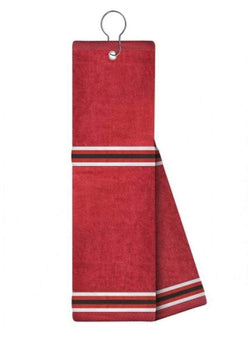 Golf Towels - Just4Golf - Just4Golf Red with White Ribbon Trim Insert Golf Towel-Red/Black - the-ladies-pro-shop-2