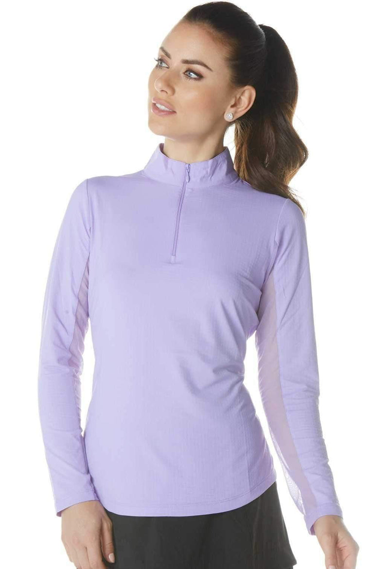 Shirts,IBKUL,IBKUL Women's Long Sleeved Solid Mock Neck Golf Sun Protection Shirt- Assorted Colors,the-ladies-pro-shop-2,ladiesproshop