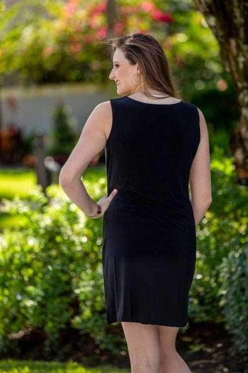 Dress,Tango Mango,Tango Mango Women's Sparkle Neckline Shift Dress- Black,the-ladies-pro-shop-2,ladiesproshop,ladiesgolf,golfclothes,ladiesgolfclothes,cutegolfclothes,womensgolfclothes,ladiesgolfclothing,womensgolfclothing