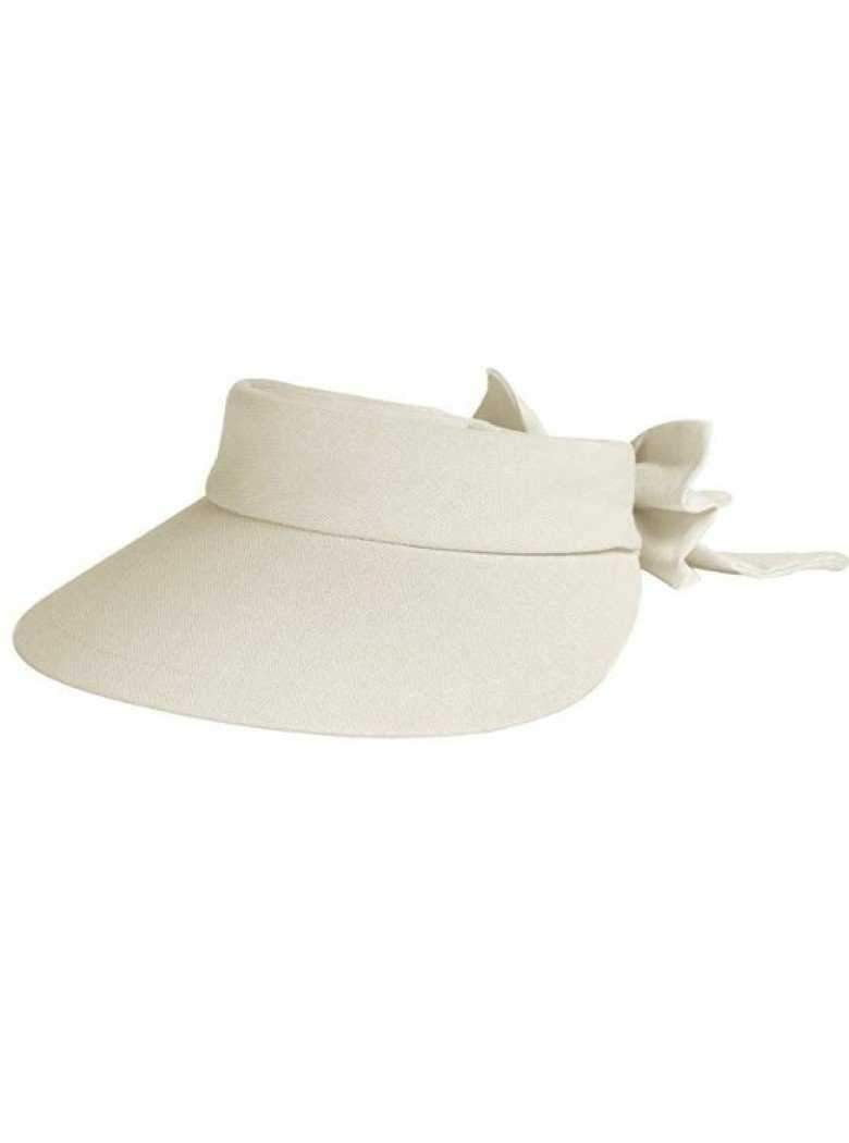 Hats,Dorfman Pacific,Dorfman Visor- Velcro Large Brim Visor with Bow-White, Natural, Black,the-ladies-pro-shop-2,ladiesproshop,ladiesgolf,golfclothes,ladiesgolfclothes,cutegolfclothes,womensgolfclothes,ladiesgolfclothing,womensgolfclothing