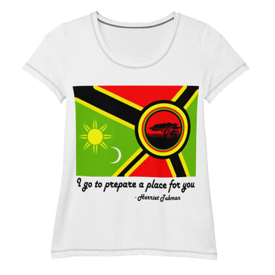 Alkebulan Flag All-Over Print Women's Athletic T-shirt