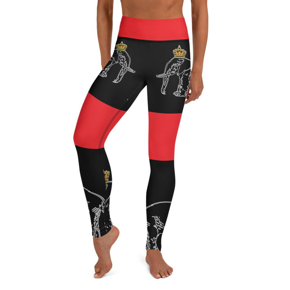 Dahomey Red Yoga Leggings