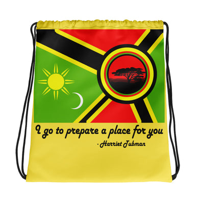 Alkebulan Flag Drawstring bag