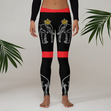Load image into Gallery viewer, Dahomey Red Leggings