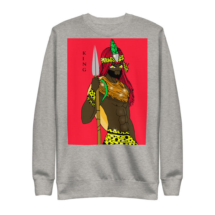 King Zulu Unisex Fleece Pullover