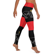 Load image into Gallery viewer, Dahomey Red Yoga Leggings