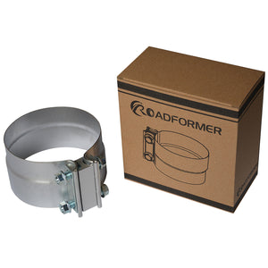 "2.5""  -  6"" Lap Joint Exhaust Clamp - Aluminium Steel"
