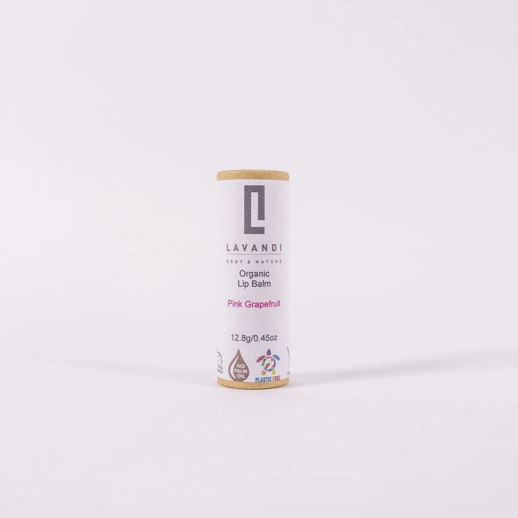 Organic Vegan Lip Balm - Pink Grapefruit