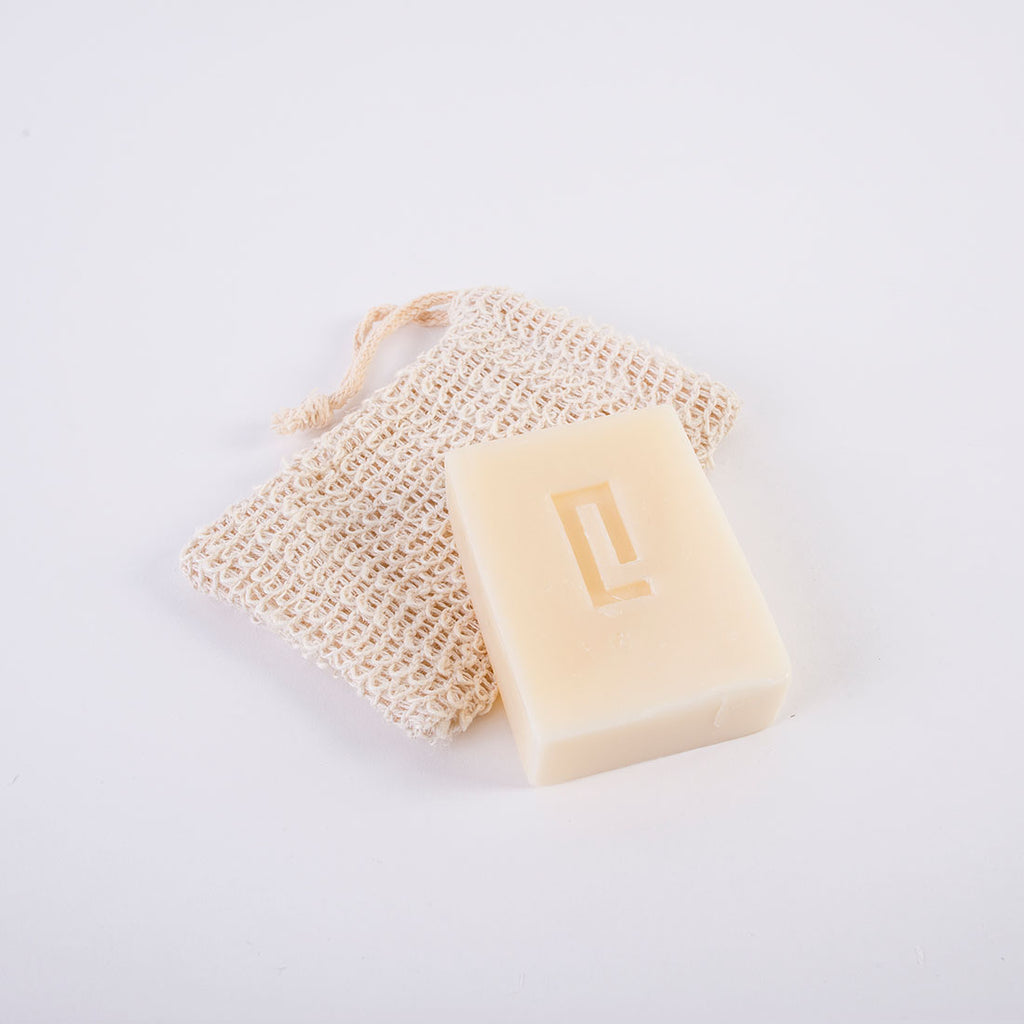 Raw Cotton Soap Bag