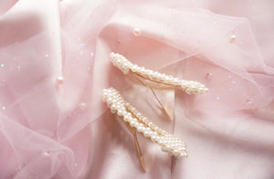 Square Pearl Hair Clips